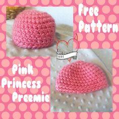 Pink Princess Preemie Hat - The Yarn Box The Yarn Box