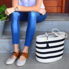 Shopper Bag Ivory With Black Stripes Net Bag, Shopper Bag, Cotton Rope, Black Stripes, Travelling, Ivory, Boutique, Farmers, Beach
