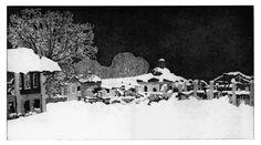 Federica Galli, Cascina Bel Sit, etching, mm 347 x 641, www.salamongallery.com | #realism #engraving #etching #cascina #bel #sit #nature #figurative #contemporary #art
