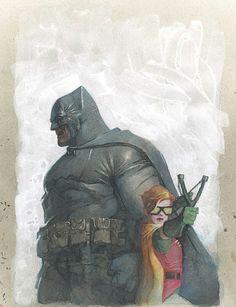 Batman - The Dark Knight Returns Batman Vs Superman, I Am Batman, Batman Robin, Batman The Dark Knight, Batman Dark, Batman Painting, Batman Artwork, Comic Books Art, Comic Art