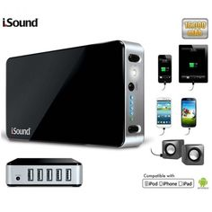 $49.99 i.Sound Portable Power Max 16,000mAh Battery Backup with 5 USB Ports, Built-in Flashlight and LED Charging Indicator +FS   (sent from my iSlick http://islickapp.com)