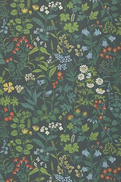 £36.44 Price per roll (per m2 £6.84), Floral wallpaper, Carrier material: Non-woven wallpaper, Surface: Smooth, Look: Hand printed look, Matt, Design: Field flowers, Basic colour: Anthracite, Pattern colour: Green, Pastel blue, Red orange, White, Characteristics: Good lightfastness, Low flammability, Strippable, Paste the wall, Wash-resistant