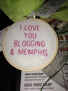 Adorable embroidery hoop from @Alyssa Perrella