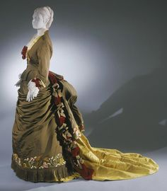 Woman's Dress with Day/Dinner Bodice, Evening Bodice and Skirt Designed by Charles Frederick Worth,  c. 1875