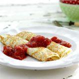 Rabarberkompott - Recept http://www.dansukker.se/se/recept/rabarberkompott.aspx Smarrigt till pannkakorna. #panncakes #rabarber