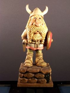 A Viking I carved in 2010
