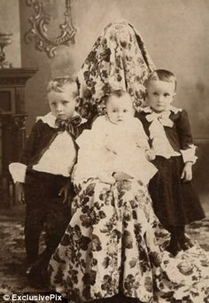 19th century photography -- Some photographers made an effort to conceal the mothers. some did not