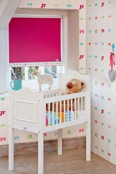 #lief! kids #raamdecoratie - #rolgordijn roze #babykamer #meisje