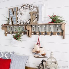 """Nothing says """"home for the holidays"""" like a warm and welcoming entryway."""