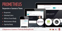 Prometheus is responsive e-Commerce theme shop for #Wordpress.