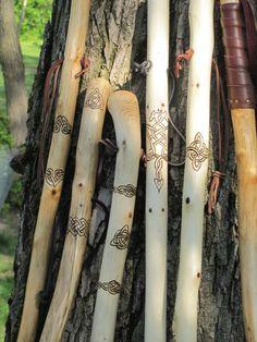 """Spiritcarving Walking sticks. """"canes""""."""