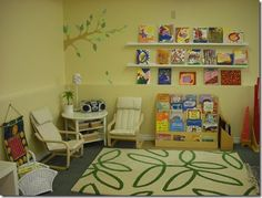One of my past students at Vancouver Community College , Nour Enayeh recently completed a decorating project with a Montessori school. Preschool Classroom Decor, Montessori Playroom, Preschool Rooms, Reggio Classroom, Daycare Rooms, Classroom Layout, Preschool Education, Kindergarten Classroom, Montessori Practical Life