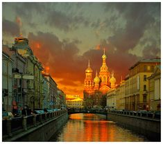 St. Petersburg at dusk Russia