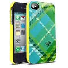 Elle & Blair Preppy Case for Apple iPhone 4/4S - Teal Plaid