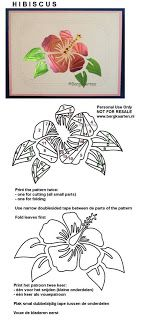 Hibiscus Iris Fold Card