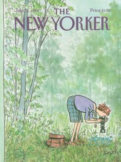 Copertina The New Yorker di Charles Saxon, 1984 (via http://thenewyorkercovers.wordpress.com)