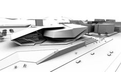 University of Hong Kong Arena-Tom Wiscombe Design Concept Architecture, Futuristic Architecture, Amazing Architecture, Architecture Design, University Architecture, Origami Architecture, Education Architecture, Chinese Architecture, Deconstructivism