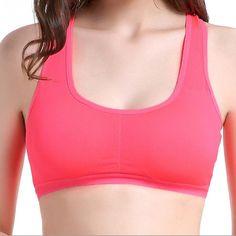 Damen Sport Push-Up BH Seamless Top Fitness Yoga Bra Bustier Unterwäsche new FL