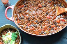 high protein snacks by Green Blender, lentil chili