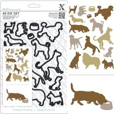 DoCrafts Xcut A5 Die Set Dogs 15 Pieces