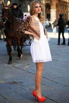 La Chica Bien: Formas de usar un vestido blanco