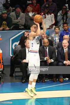 Stephen Curry of Team Giannis shoots the ball against Team LeBron during the 2019 NBA AllStar Game on February 17 2019 at the Spectrum Center in. Basketball Shooting Drills, Curry Basketball, Nba Stars, Stephen Curry, Stretching, Spectrum, All Star, February, Goals