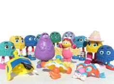 Huge Collection of Collectable McDonald's Corp PVC Characters Fry Guys, Fry Girls, Grimace, Hamburgler 1980s Toys
