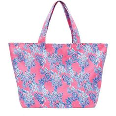 Lilly Pulitzer Print Canvas Beach Tote (545 CNY) ❤ liked on Polyvore