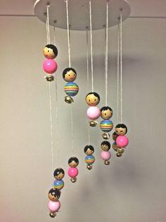 Mobile Dolls by Littlegreenkoala on Etsy
