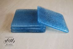 Bubble Effect Glass Coasters Set Of 4 by AMGlassStudio on Etsy