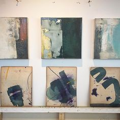 Selecting small works for competitions...#painting #texture #abstract #drawing #ink #canvas #art #discerningeye #framing #studio