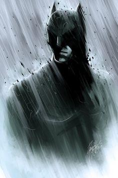 Monochromatic Batman by DarroldHansen.deviantart.com on @DeviantArt