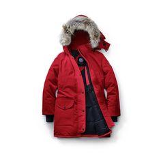 Women Canada Goose Red Fusion Fit Trillium Parka