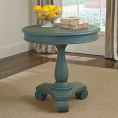 Have to have it. Signature Design By Ashley Cottage Accents Blue Round Accent Table - $221.99 @hayneedle