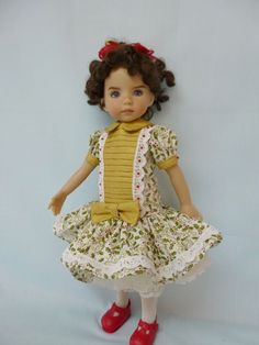 Christmas Outfit for 13' Little Darling Dianna Effner Doll by Apple