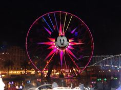 View of Paradise Pier at night at California Adventure before World of Color #DCA #ParadisePier #WorldofColor