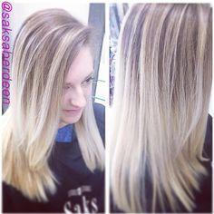 Platinum blonde ombre by Steven @stevoeast #saksaberdeen