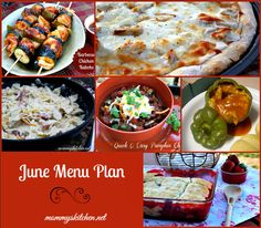 Mommy's Kitchen - Old Fashioned & Country Style Cooking: June Menu - Menu Plan Monthly