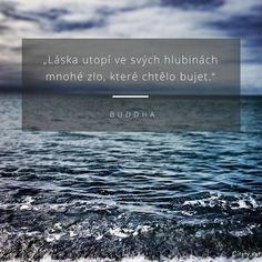 Láska utopí ve svých hlubinách mnohé zlo, které chtělo bujet. - Buddha #láska #zlo