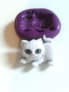 Small Kitten Cat Silicone Mould Sugarcraft Cupcake Toppers Cake Decorating Tool