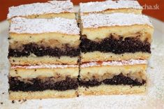 Desať skvelých dezertov, ktoré kombinujú jablká a mak Czech Recipes, Ethnic Recipes, Nutella, Tiramisu, Cake Recipes, Cheesecake, Goodies, Food And Drink, Cooking Recipes