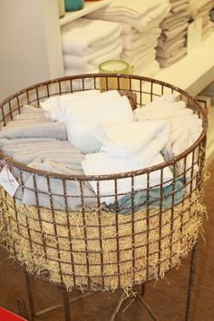 Great wire laundry basket from Home At Last by Dan Brungardt.