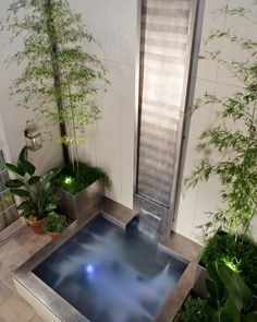 Stainless Steel Spa with Water wall feature is a hybrid spa that can be a cold plunge pool with a flip of a switch