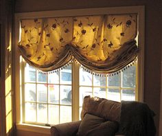 Leatherwood Design Co: double center-pleat relaxed Roman Window Coverings, Window Treatments, Relaxed Roman Shade, Balloon Shades, Double Window, Diy Curtains, Large Homes, Roman Shades, Family Room