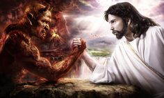 Devil and God? What Do The Illuminati Believe? The Illuminati Beliefs - Tenet of God & Satan Illuminati, Jesus Tattoo, Devil Tattoo, Satan, Greater Is He, Jesus Christus, Heaven And Hell, God Pictures, Poster Pictures