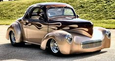 1941 Willys Coupe Street Rod . GM 540 c.i. engine . 600 hp . Root Beer over Champaigne PPG paint . $125,000.00  . Stow, Ohio