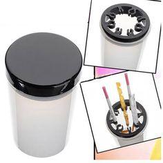 Nail Art Tip Brush Holder Remover Cup Immersion Brush Cleaner Bottle HB88