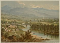 Prang's Gems of American Scenery No. 4 - Pemigewasset and Baker River Valley, Six Views - Plymouth Valley   by Boston Public Library