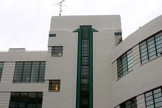 7-11 Herbrand Street. This stunning white, black and green example of Art Deco started life as a Daimler car hire garage and also did time as a car park – the circular section on the right was the ramp for cars. Built in 1931 by Wallis, Gilbert and Partners (who were also the architects behind Perivale's Hoover Building and the Victoria Coach Station),