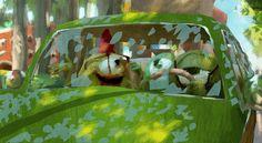 Visual development art for Monsters University Pixar Concept Art, Disney Concept Art, Disney Drawings, Art Drawings, Drawing Faces, Storyboard, Walt Disney, Color Script, Illustration Vector